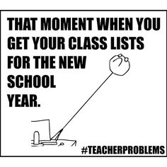 I can't really complain about my class lists this year, but in the past there's been some crazy combos. #teacherproblems #teachersfollowteachers #teachers #backtoschool #classroom #iteachtoo #teacherspayteachers #teacherhumor #thatmoment #highschool #midd