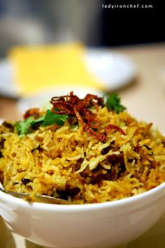 Briyani - indian basmati rice cooked with spices and meat