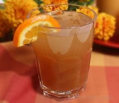 Cran-Orange Ice Tea Cooler | Invigorating, vividly flavored fruit drink that can be easily doubled or tripled and served as a punch for large gatherings.