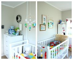 Eclectic nursery for baby boy