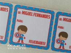 Etiqueta De/Para - Capitão América  :: flavoli.net - Papelaria Personalizada :: Contato: (21) 98-836-0113 - Também no WhatsApp! vendas@flavoli.net