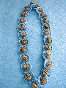 Blue Buttons Necklace Free Crochet Pattern | AllFreeCrochet.com