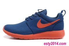 premium selection e7469 b8bef Mens Nike Roshe Run Dark Royal Blue Team Volt 49.54 Running Shoes Summer  2014