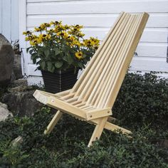 Hershy Way Wood Patio Cricket Chair | from hayneedle.com