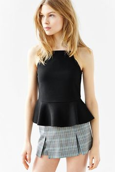 Cooperative Square-Neck Peplum Tank Top - Urban Outfitters