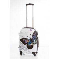 31fd247de Maleta de viaje Dura pequeña modelo Mariposa, con diseño muy juvenil, es  una maleta