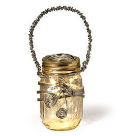 Wired Lantern Mason Jar & Other Projects by Jo-ann's Stores Mason Jar Projects, Mason Jar Crafts, Mason Jar Diy, Mason Jar Lamp, Jar Art, Diy Projects To Try, Craft Projects, Craft Ideas, Diy Ideas