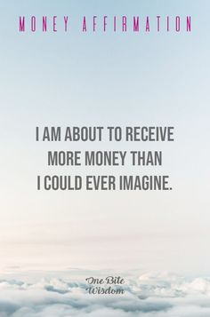 Here we have 12 Money Affirmations Mantra that will attract prosperity into your life. Repeat these affirmations over and over again and. Prosperity Affirmations, Money Affirmations, Positive Affirmations For Success, Positive Mindset, Money Quotes, Life Quotes, Quotes To Live By, Quotes About Money, Quotes Quotes