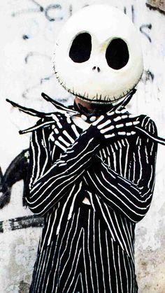 Jack Skellington Costume iPhone 6 Wallpaper for 2014 Halloween - Nightmare Before Christmas Makeup Party  #2014 #Halloween