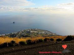 #Panoramic #view of the village of #Stromboli.