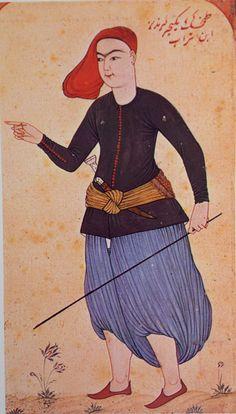 Minyatür-miniature. A rowdy. Levni, 18th century.