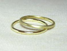 Gold Wedding Ring Band Matt Finish by EmStudio9 on Etsy