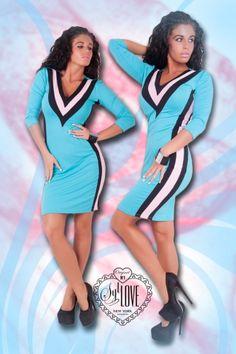SYL sensual miniruha kék-rózsaszín