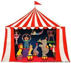 Make an exciting circus shoebox diorama featuring your favorite circus animals and circus performers. With a few added steps, you can also turn your diorama into a fun circus puppet theater.