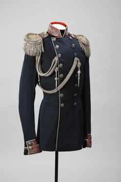 Fliegel Adjutant's Uniform (owned by Grand Duke Mikhail Nikolaevich) Russia, 1855 Royal Clothing, Prince Clothing, Vintage Military Uniforms, Military Fashion, Mens Fashion, Drawing Clothes, Character Outfits, Historical Clothing, Costume Design