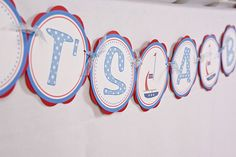 Sailboat It's A Boy Banner Nautical Baby Shower- Red & Blue