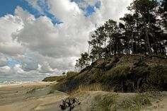 Jastarnia beach in Poland (Baltic Sea) Historical Monuments, Landscape Paintings, Landscapes, Windsurfing, Baltic Sea, Central Europe, Heritage Site, Cool Pictures, Scenery