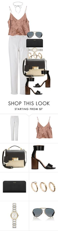"""""""Untitled #3932"""" by lily-tubman ❤ liked on Polyvore featuring WÃ¥ven, Balenciaga, Givenchy, Yves Saint Laurent, ASOS, Burberry and Lilou"""