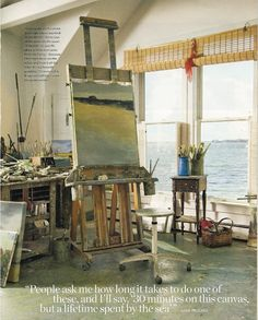 artist anne packard in coastal living magazine. My idea of the coastal lifestyle, Anne Packard's space.