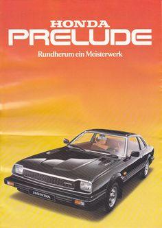 Honda Prelude Mk1 Germany Brochure 1979