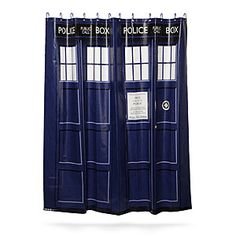 ThinkGeek :: Doctor Who TARDIS Shower Curtain