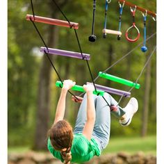Kids can train like real ninjas do with the Ninjaline Obstacle Course Kit! Deluxe Kit includes 2 exclusive obstacles—a Bachar ladder and a rickety bridge. Kids Outdoor Play, Backyard For Kids, Outdoor Games, Outdoor Activities, Backyard Ideas, Outdoor Toys, Backyard Gym, Kids Yard, Backyard Movie