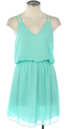 The Lake Shore Dress in Mint