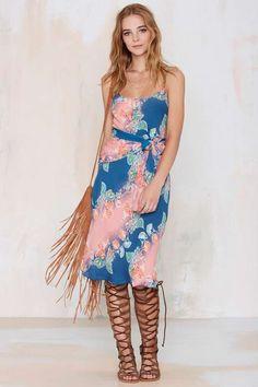 Vintage Diane Von Furstenberg Aria Silk Dress