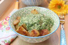 Bratkohlrabi mit Spinat-Käsecreme Low Carb. Ratzfatz-Küche mit raffiniertem Käsearoma. Wer braucht da noch den Blubb?