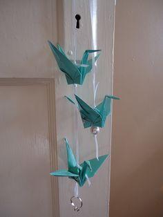 Tiffany Blue Origami Bird Wedding Garland. $8.00, via Etsy.