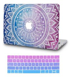 KECC Laptop Case for MacBook Air w/Keyboard Cover Plastic Hard Shell Case 2 in 1 Bundle (Purple Medallion) Best Macbook, Macbook Laptop, Macbook Pro Case, Laptop Cases, Laptop Design, New Electronic Gadgets, Diy Laptop, Accessoires Iphone, Keyboard Cover