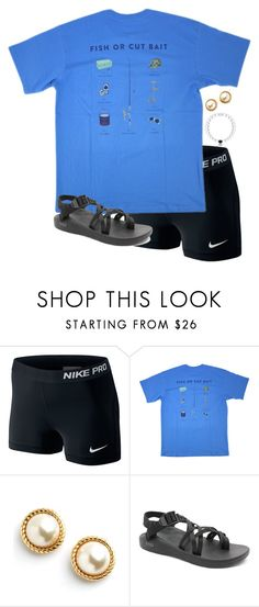 """""""chillin'"""" by preppy-classy ❤ liked on Polyvore featuring NIKE, But Another Innocent Tale, Kate Spade and Chaco"""