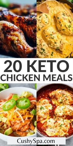 If you are wondering how to keto diet these easy ketogenic chicken dinners are a great place to start to get into ketosis. These tasty keto chicken recipes can help you learn what to eat on keto diet. #Ketosis #EatKeto Ketogenic Recipes, Ketogenic Diet, Keto Recipes, Dinner Recipes, Keto Foods, Keto Chicken, Chicken Recipes, Chicken Wings, Food Porn