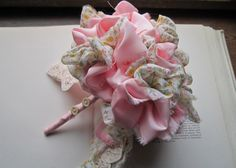 Vintage Fabric Flower Bouquet by bedouin on Etsy