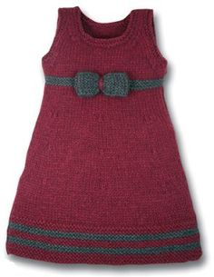 "Knitted girl dress [ ""Inspiration – the link doesn – Stricken sie Baby Kleidung Baby Knitting Patterns, Knitting For Kids, Knitting Projects, Girls Knitted Dress, Knit Baby Dress, Crochet Dresses, Baby Cardigan, Crochet Baby, Knit Crochet"