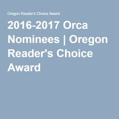 2016-2017 Orca Nominees | Oregon Reader's Choice Award