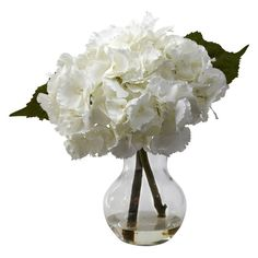 Nearly Natural Blooming Hydrangea Silk Flower - 1314