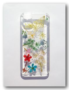Handmade phone case, Real flower phone case
