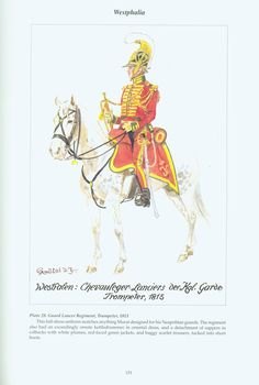 The Confederation of the Rhine - Westphalia: Plate 28. Guard Lancer Regiment, Trumpeter, 1813