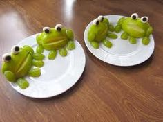 Frog shaped snack