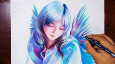 Drawing A Bird Fairy - Prismacolor pencils - speed drawing  What's up guys it's Art Tuesday! Hope you guys are having an awesome day and as always have fun cool people !!! grin emoticon