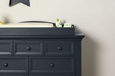 Baby Caché Harbor Changing Topper in Navy Mist #babycache #nursery