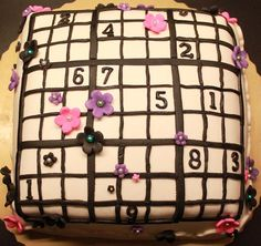Sudoku cake! Sudoku, Bakery, Coin Purse, Arts And Crafts, Birthday Cake, Cool Stuff, Cake Ideas, Brownies, Puzzle
