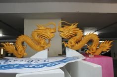 Dragons Foam Carving, Dragons, Lion Sculpture, Statue, Art, Art Background, Kite, Kunst, Dragon