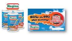 Regina Blitz, Free music downloads with every pack! Overlay competition to win a top of the range BBQ.