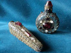 Antique Czech Perfume Bottles 1900's                         ♥༺♡༻♥
