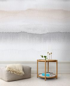 Textured, fancy walls are so in right now—and watercolor walls are just continuing that trend. Check out these pretty rooms that style the watercolor wall mural really well, for inspiration on how to do it in your home. Watercolor Wallpaper, Watercolor Walls, Ombre Wallpapers, Interior Decorating, Interior Design, My New Room, Interior Inspiration, Design Inspiration, Wall Murals