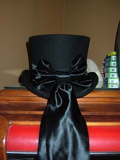 undertaker's black satin bow and ribbons
