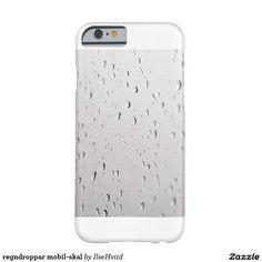 regndroppar mobil-skal