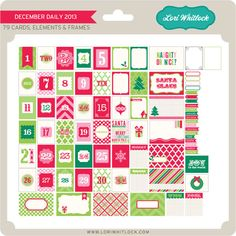 New at Jessica Sprague: Daily December Digital Kit